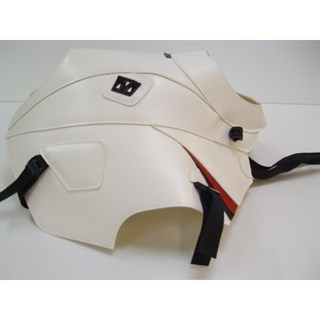 Bagster Tank cover XTZ 660 TENERE - white / red deco / black piping