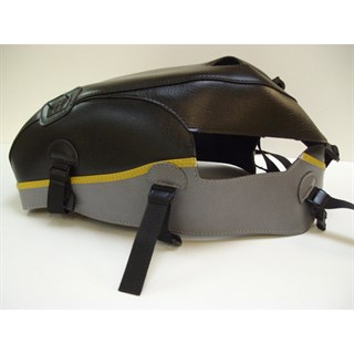 Bagster Tank cover BONNEVILLE T 100 SE / 800 / 850 / 900 / SCRAMBLER / THRUXTON 900 - black / steel grey / gold piping