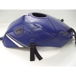 Bagster Tank cover YZF R1 - baltic blue / white / steel grey triangle