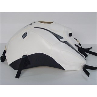 Bagster Tank cover FZ 8 - white / anthracite deco / black piping