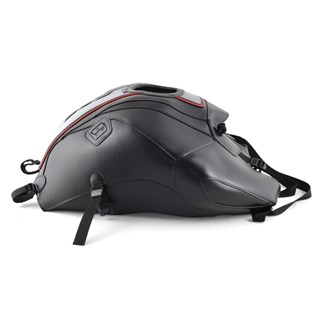 Bagster Tank cover FZ 8 - black / steel grey deco / black deco / red piping