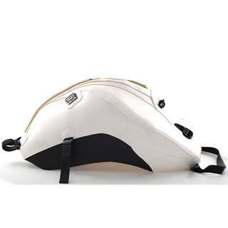 Bagster Tank cover FZ 8 - white / black deco / gold piping