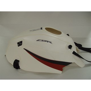 Bagster Tank cover CBR 600F - white / red / black triangle