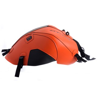 Bagster Tank cover MT 09 - orange / carbon / black / silver piping