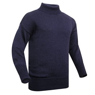 Submariner Windproof Rollneck Sweater in navy blue