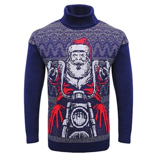 Motolegends Navy Christmas Jumper