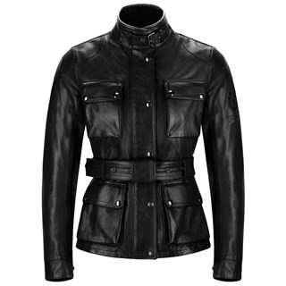 Belstaff Trialmaster ladies leather jacket in black