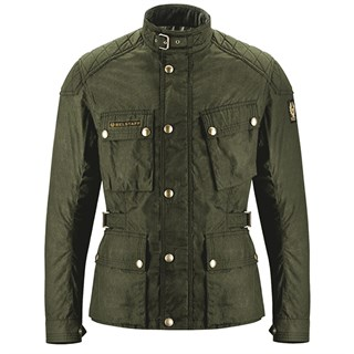 Belstaff McGee wax cotton jacket in military green