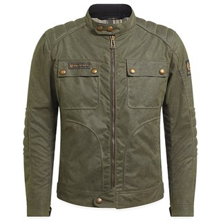 Belstaff Roberts wax cotton jacket in military green
