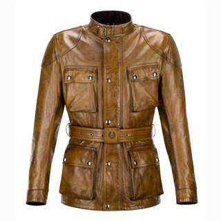 Belstaff Aintree Trialmaster leather jacket in burnt cuero