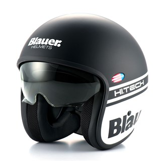 Blauer Pilot 1.1 helmet in matt black / white
