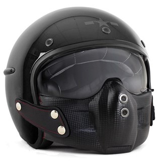 Harisson Corsair helmet - gloss black M