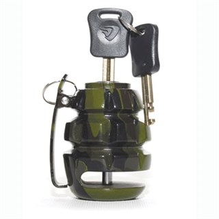 Hand Grenade bike disc lock in green