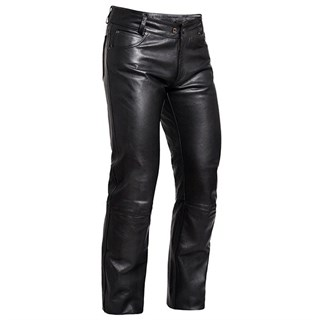 Halvarssons leather jeans in black