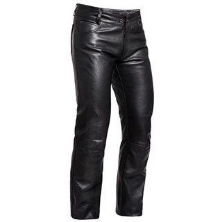 Halvarssons ladies leather jeans in black