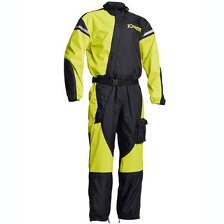 Halvarssons Waterproof rain suit in black / yellow