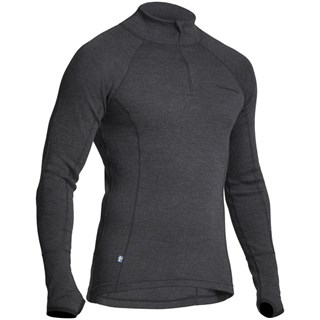 Halvarssons Wool Polo base layer in black