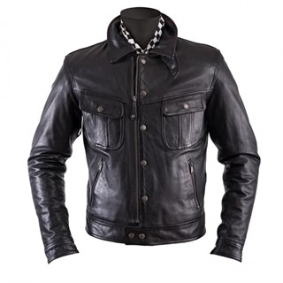Helstons Cannonball Leather Black 2Xl