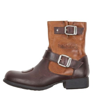Helstons Grace ladies boots in brown / tan