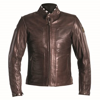 Helstons River Perforated Leather jacket in camel L