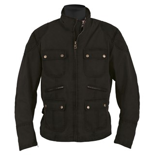Helstons Hunt Wax Cotton jacket in black