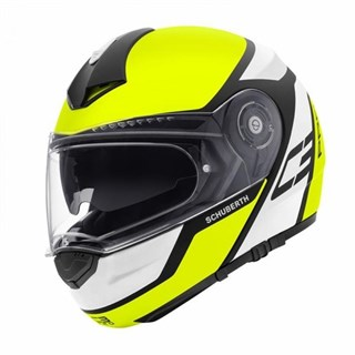 Schuberth C3 Pro helmet in echo yellow