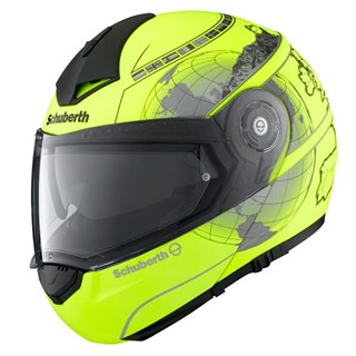 Schuberth C3 Pro helmet in Europe yellow
