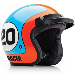 Bell motorcycle helmet in blue: decorate with your name