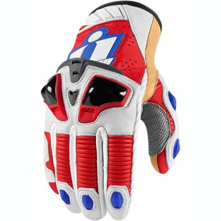 Icon Hypersport Pro Short gloves in white / red