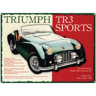 Triumph TR3 Sports Metal Sign