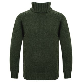 Motolegends Woollen Rollneck in olive