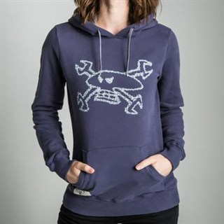 Red Torpedo Guy Martin Spanner Swarm ladies Hoodie in navy silver 8