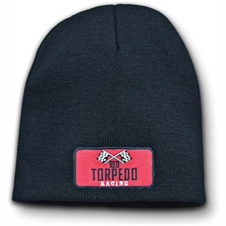 Red Torpedo Retro Racing Beanie