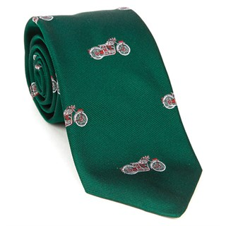 Motorcycle Silk Tie in green