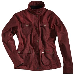 Rokker wax cotton ladies jacket in red