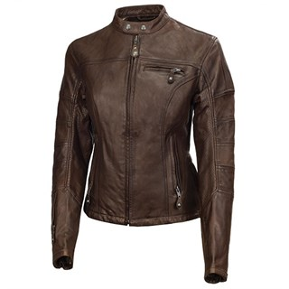 Roland Sands ladies Maven jacket in tobacco
