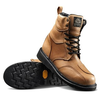 Roland Sands Mojave boots in brown