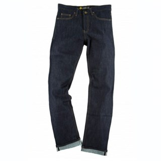 Resurgence Cafe Racer Raw skinny leg jeans in blue