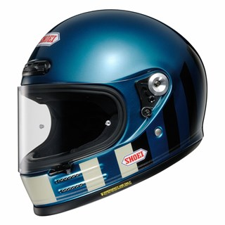 Shoei Glamster Resurrection TC5 helmet in blue & black