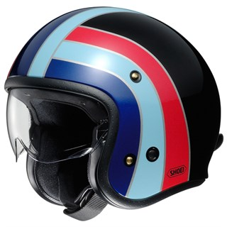 Shoei JO Nostalgia TC-10 helmet in black/ blue