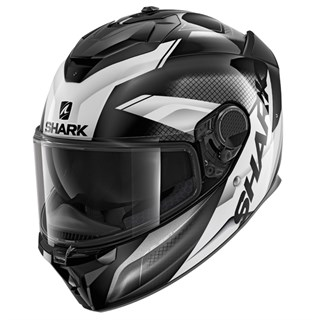 Shark Spartan GT Elgen KAW helmet in black/ white