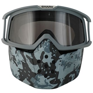 Shark Drak Camo Goggle and mask kit