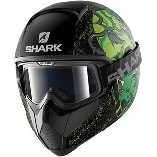 Shark Vancore Ashtan helmet in matt black / green
