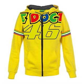 Rossi 2018 The Doctor kids hoodie in yellow