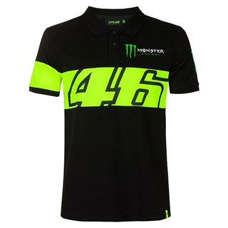 Valentino Rossi VR46 2020 Monster polo in black and yellow S
