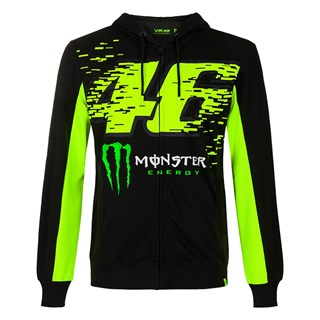 Valentino Rossi VR46 2020 Monster hoodie in black and yellow M