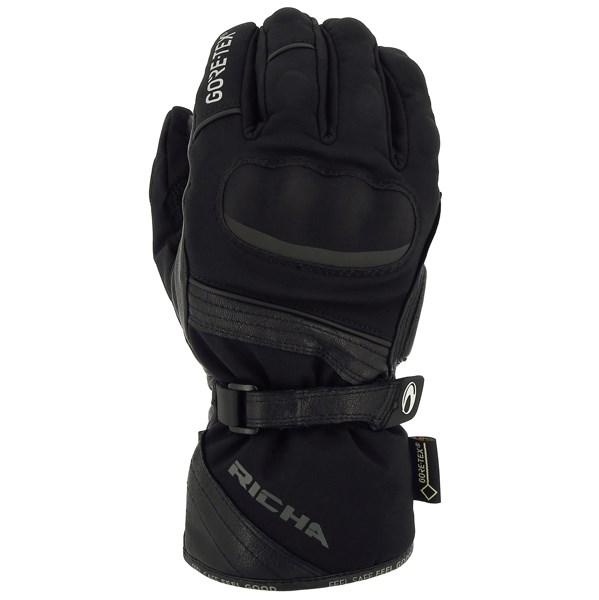 Richa Arctic GTX GORE-TEX Waterproof Leather Textile Motorcycle Gloves Black M