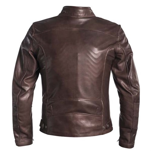 elstons River perforated leather motorcycle jacket