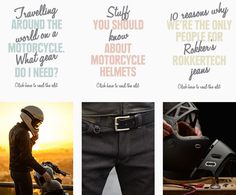 Motorcycle editorial
