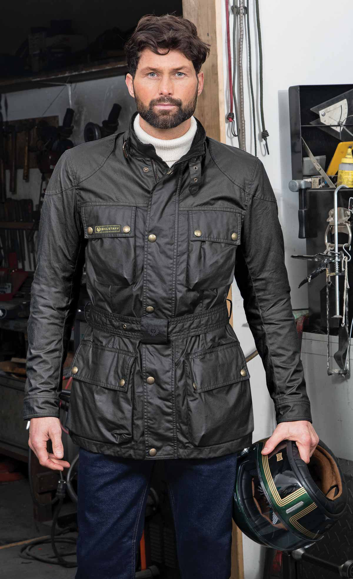 Belstaff Six ounce Trialmaster jacket lifestyle